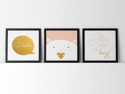 Mama Love Print Printable - BB房掛牆裝飾海報  免費下載 Nursey Poster Free Printable Pack Download
