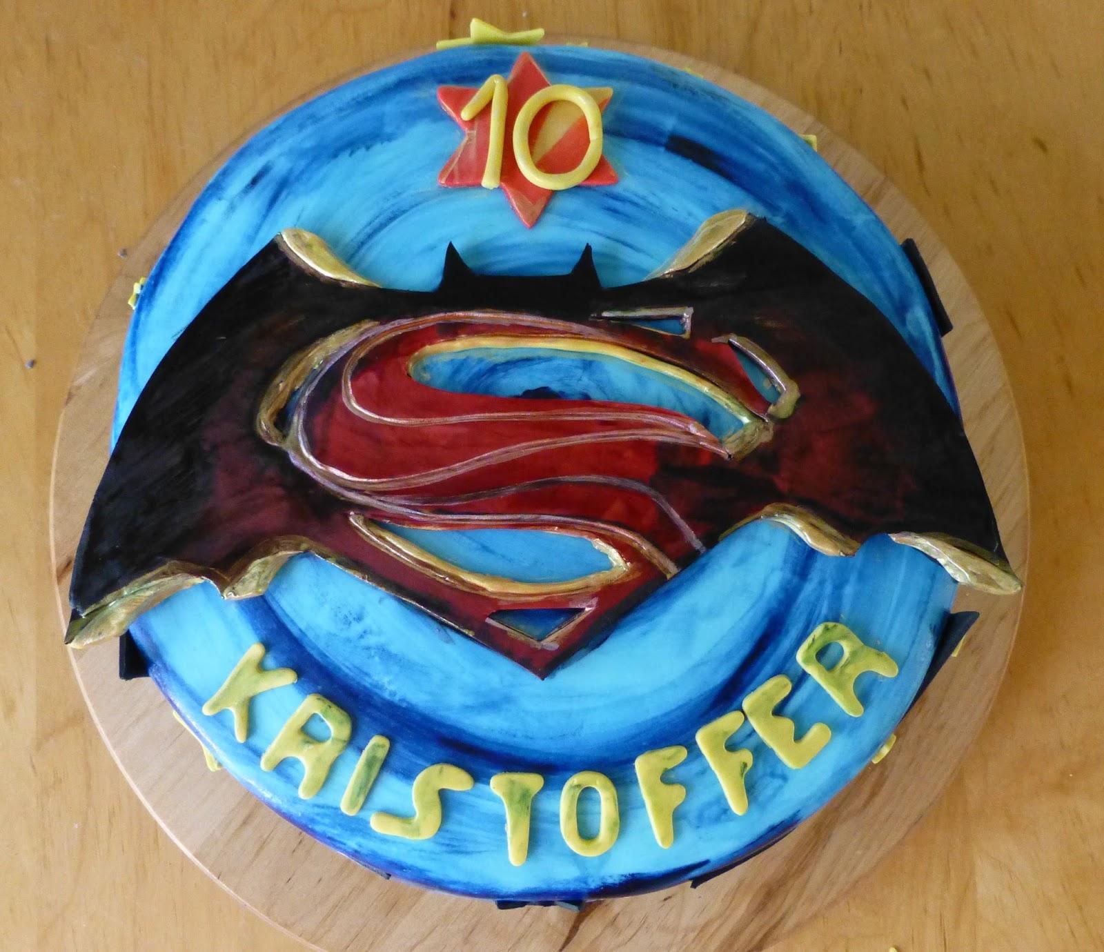 Cakesophia Batman Vs Superman Cake