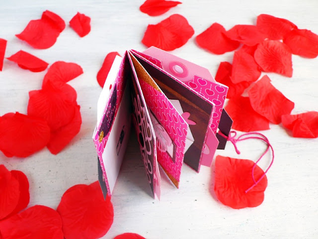 Mini album tascabile per San Valentino