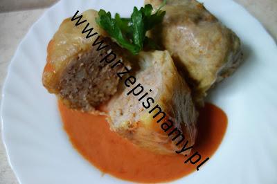 Gołąbki mięsno - ryżowe ze świeżej kapusty