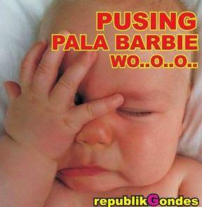 gambar dp bayi lagi pusing
