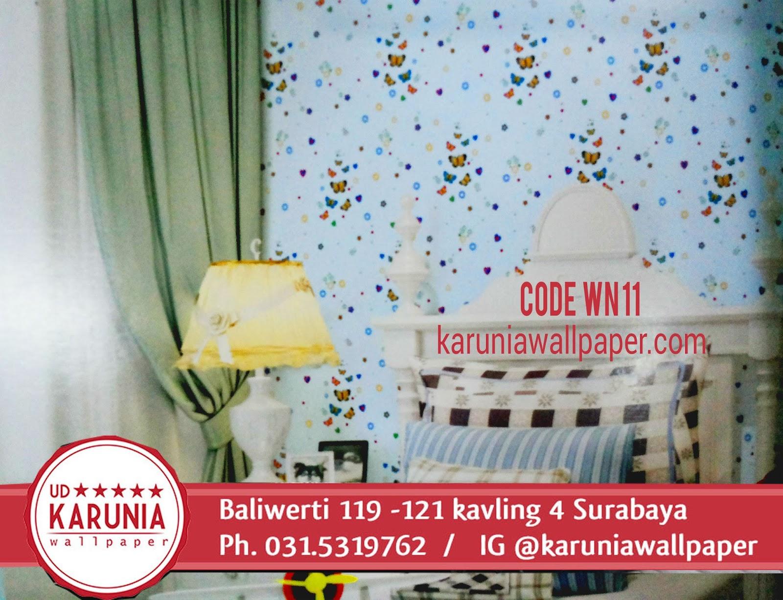 jual wallpaper dinding warna biru karuniawallpaper