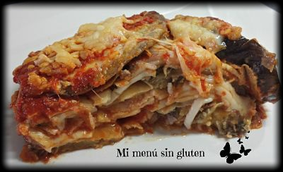 Berenjena a la parmesana sin gluten