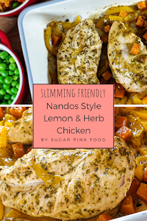 Nandos Style Lemon & Herb Chicken recipe picture, slimming world, healthy, pinterest image
