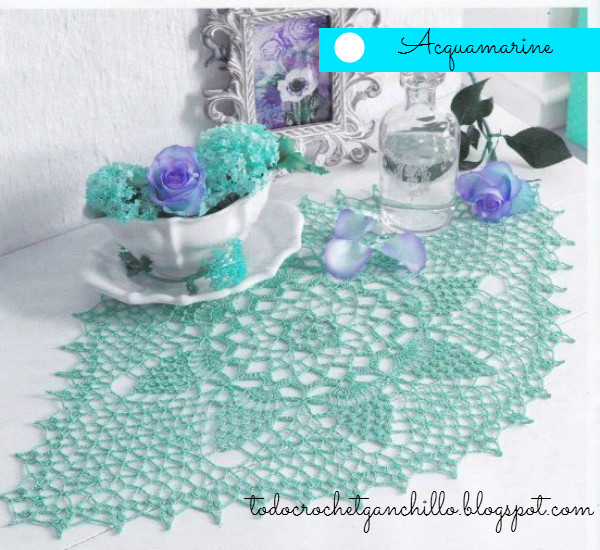 Diagrama crochet de carpeta oval ganchillo