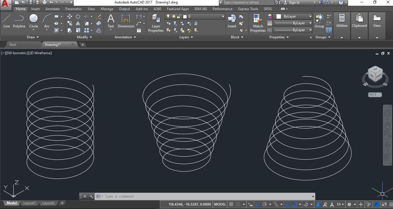 Autocad, Cara Membuat Helix / Spiral - tukanggambar3d