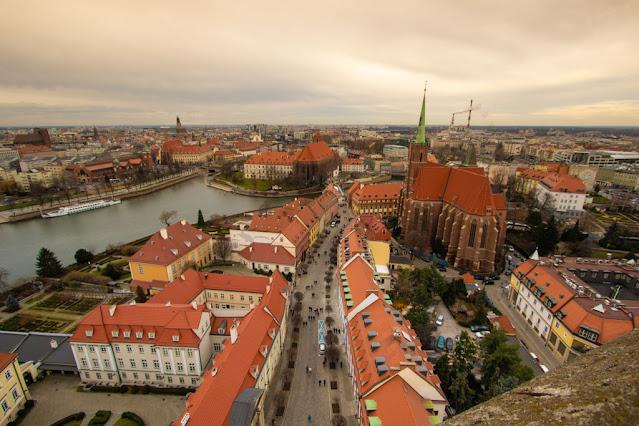 Panorama dal campanile della Cattedrale di San Giovanni Battista-Breslavia