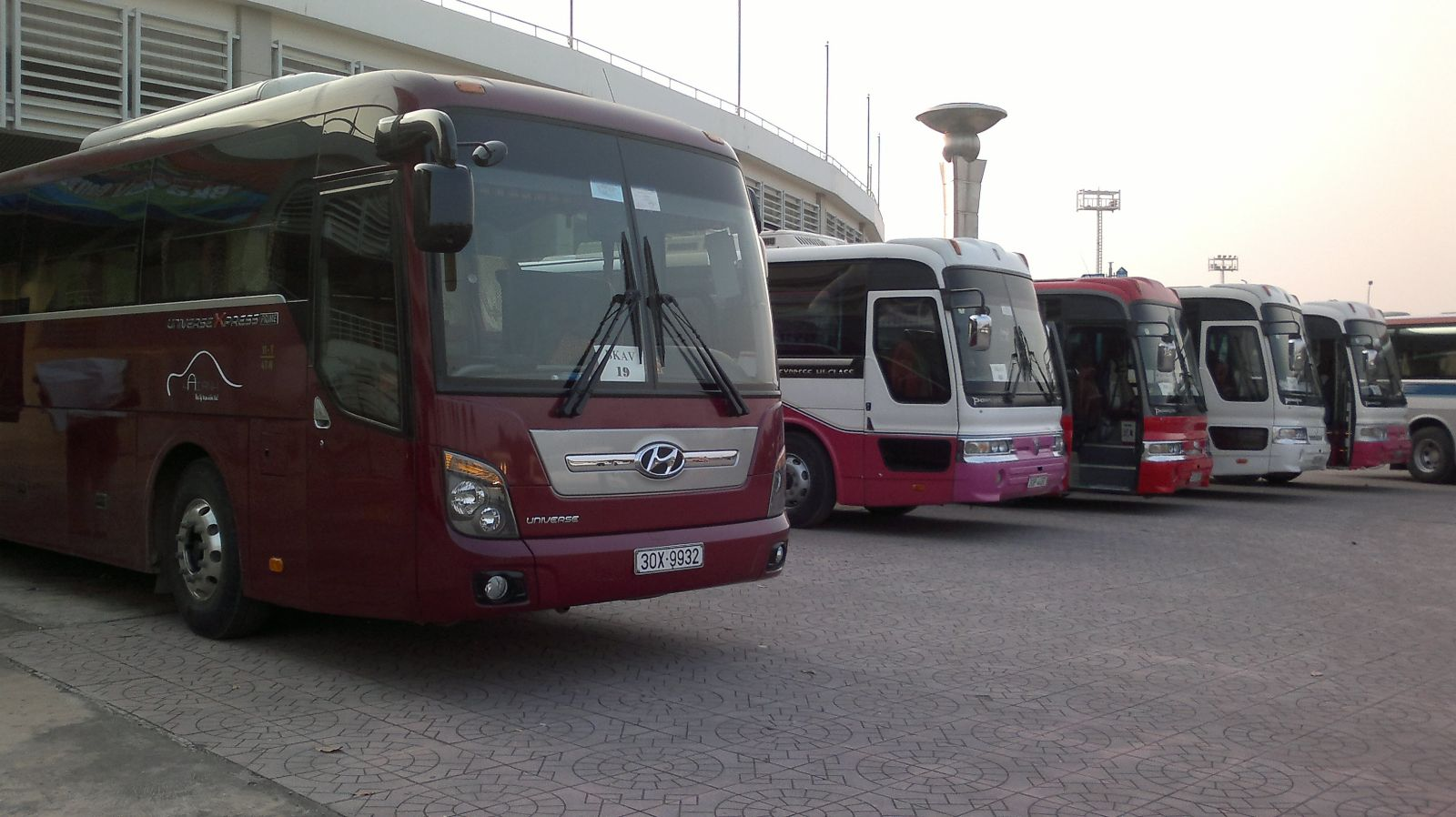 Hagiang buses in Hanoi Bus Station