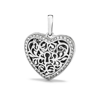 Origami Owl Sentiments Filigree Heart Pendant available at StoriedCharms.com