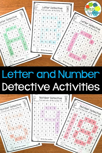 Letter and Number Detective Activities | Apples to Applique