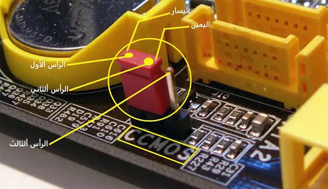 طريقة حذف وإزالة كلمة المرور في البيوس BIOS