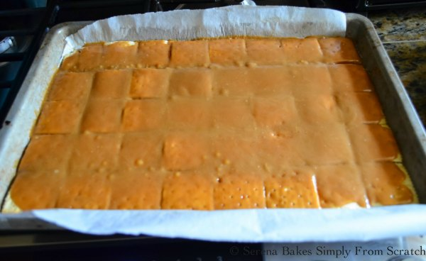 Cook Saltine Toffee recipe.