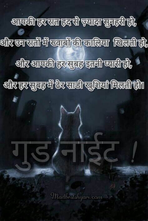 Good Night Shayari Image