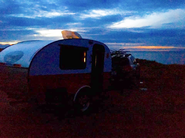 the Cabot Trail, tiny trailer camping