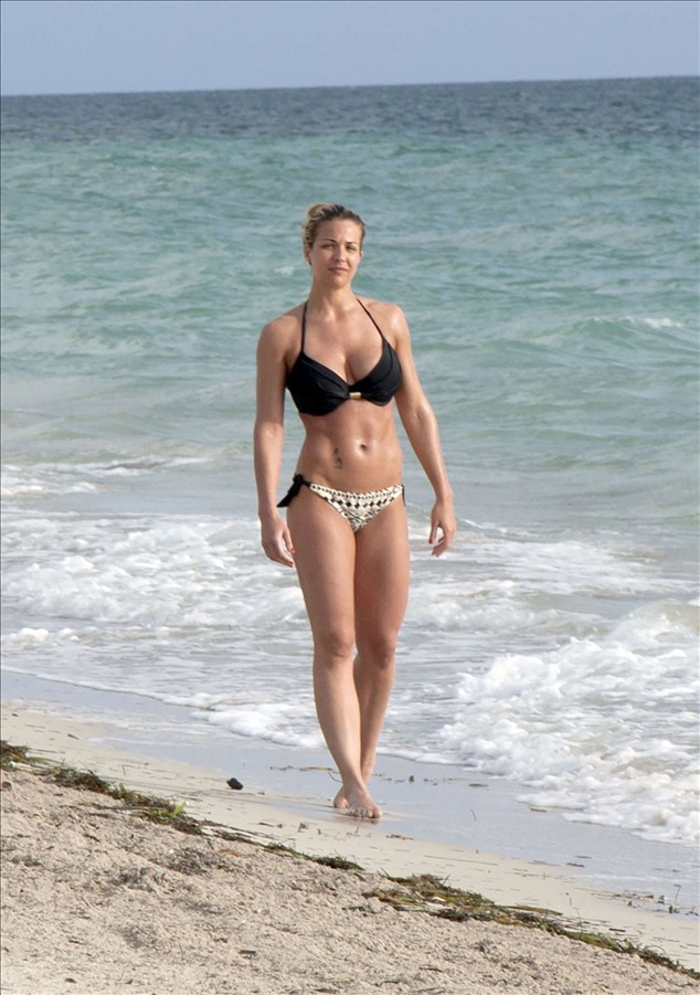 Gemma Atkinson in Bikini on the Beach
