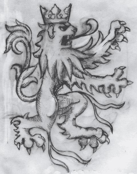 Etude au crayon du lion d'Oultremont. Par Olivier Nolet de Brauwere.