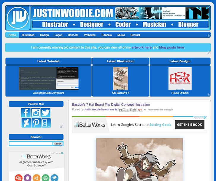 Screenshot Of Justin Woodie's Website