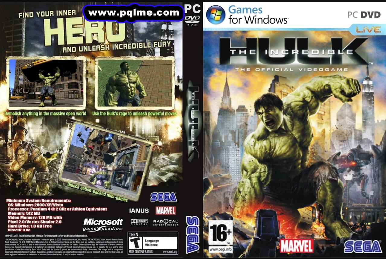 لعبة the incredible hulk كاملة للكمبيوتر