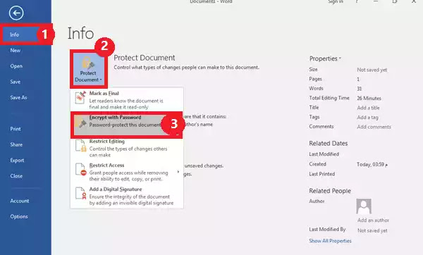 كيفية تشفير ملفات الاوفيس وحمايتها بكلمة مرور (Word وExcel وAccess و PowerPoint)