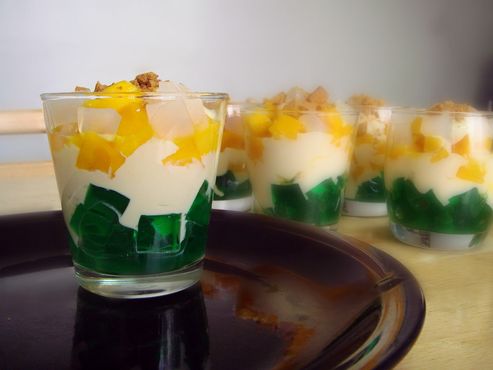 Pandan Cake Jelly Recipe: Food Wanderings : Mango Pandan Verrines