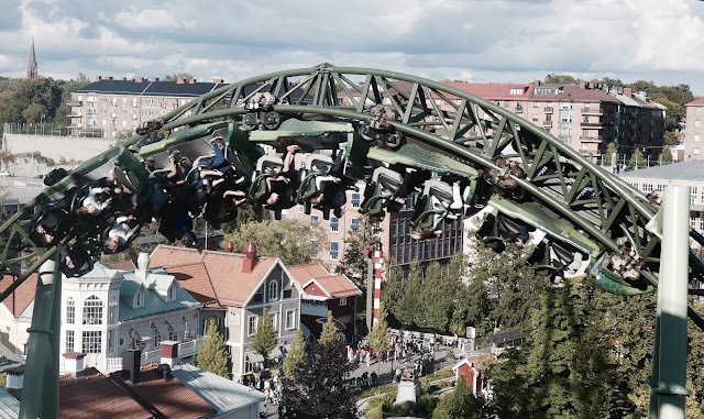 Photo of Zero G Roll Inversion on Helix Roller Coaster at Liseberg