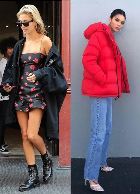 Tendências outono inverno 2020, Hailey Bieber, Kylie Jenner