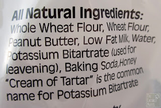 Whole wheat flour, wheat flour, peanut butter, low fat milk, water...