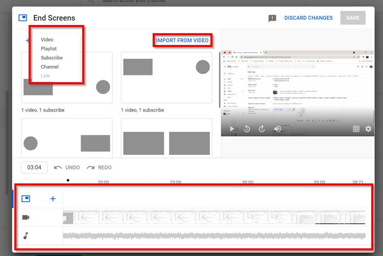 Implement YouTube End Screen While Uploading the Video