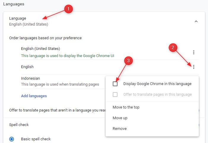 Cara Mengganti Bahasa di Google chrome Menjadi Bahasa Indonesia