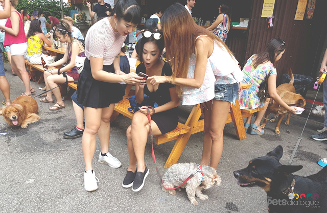 Asian Girls with puppies