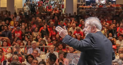 Lula discursa na abertura do Congresso do PT 2019