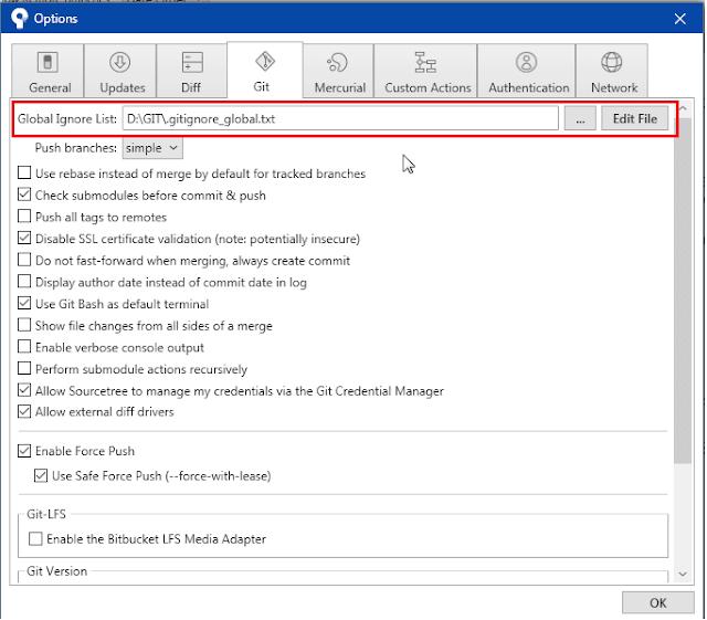 Git/Sourcetree Global ignore list