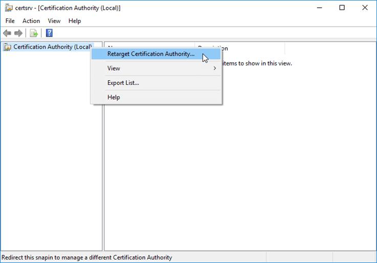 خطأ: لا يمكن إدارة خدمات شهادات Active Directory 0x424