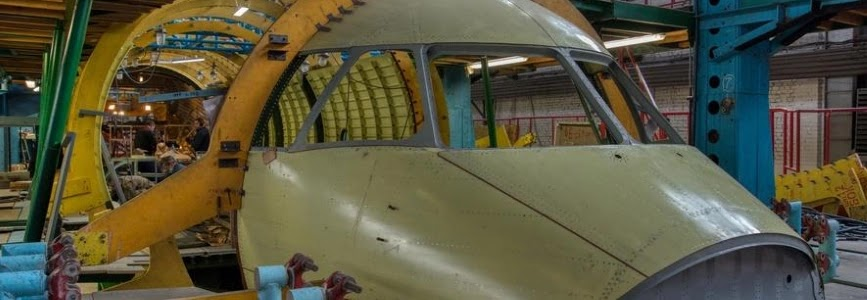 AN-178 for Peru: General assembly of the aircraft's fuselage is being conducted