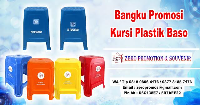 Kursi baso promosi, kursi iklan Baru, Kursi bakso plastik untuk promosi / iklan, Bangku Kursi Tinggi Iklan Sablon Promo