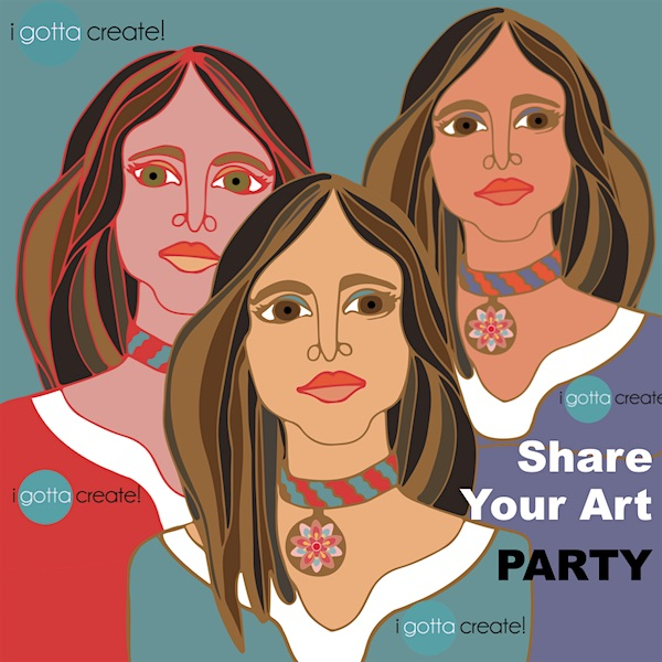 Share your Vector Art Party at I Gotta Create!