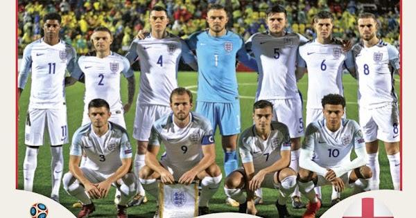 Sticker 590 England Marcus Rashford Panini WM 2018 World Cup Russia