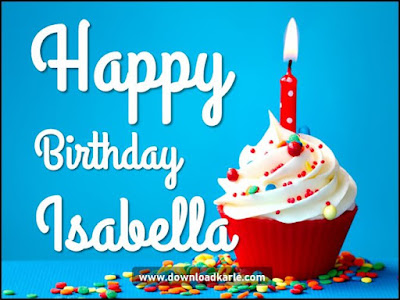 happy birthday isabella cake