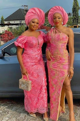 Pink Lace Styles for Asoebi