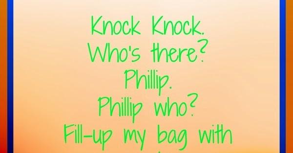 Knock whos there jokes tagalog