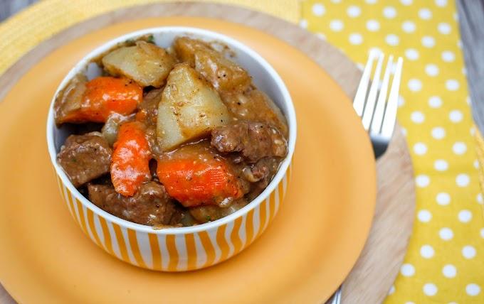Guiso de ternera con patatas (también posibilidad de ser receta vegana)