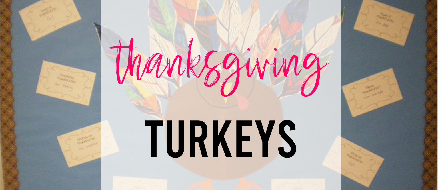 Thanksgiving turkey class activity for Kindergarten