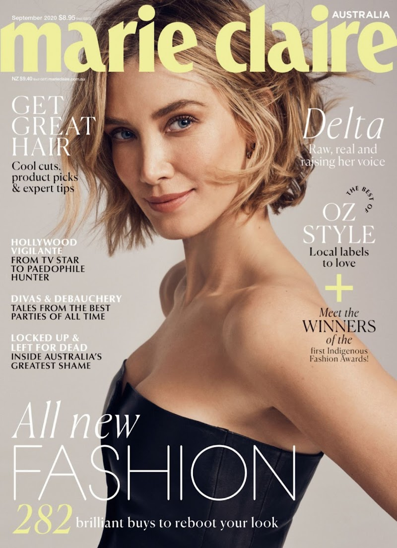 Delta Goodrem  Featured n Marie Claire Australia September - 2020 Issue