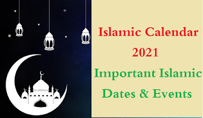 Islamic calendar 2021 with important days, dates and events