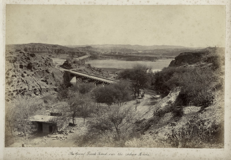 Grand Trank Road on Sohan (Soan) River - India c1884