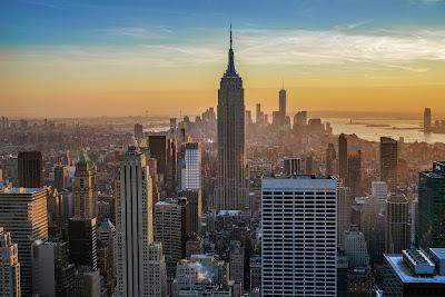 Ciudad de New York al atardecer