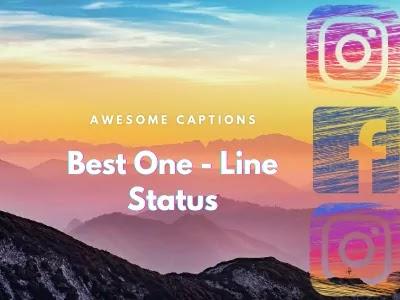 One Line Instagram Caption