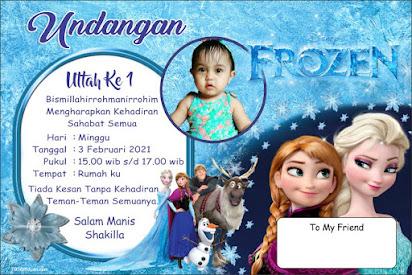 Desain Undangan Ultah Kartun Frozen CDR