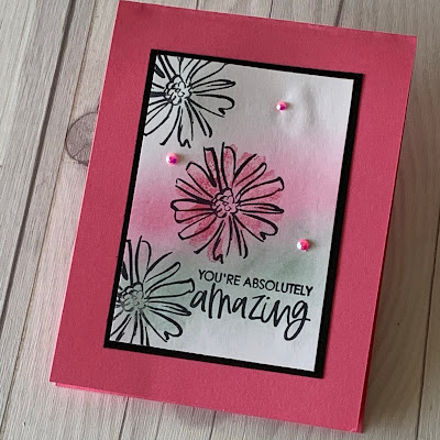 Floral handmade card using Blending Brushes and the Color & Contour Bundle from Stampin' Up!