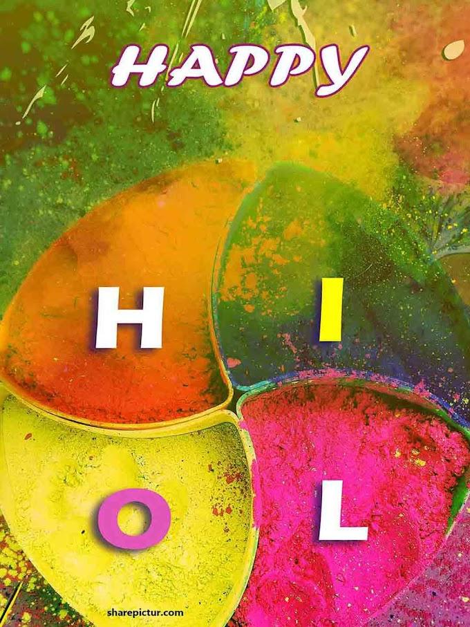 Holi greetings images
